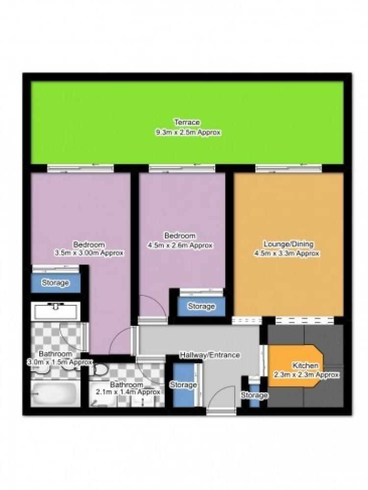 2 Bed  Flat / Apartment for Sale, Puerto de Santiago, Santa Cruz de Tenerife, Tenerife - SB-SB-302 20